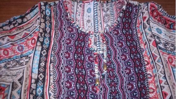 Camisola Modelo Indú Talle L Y Collar De Madera Artesanal
