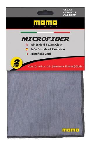 Momo Paños De Microfibra Para Vidrios - 2 Unidades - Ac001