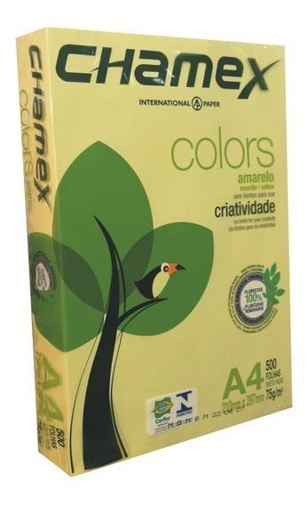 Papel Amarillo A4 500 Hojas 75 Gr Laser Inkjet Papeles Color