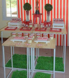 Alquiler Mesas Para Candy Bar Hierro Petit Carrousel Eventos