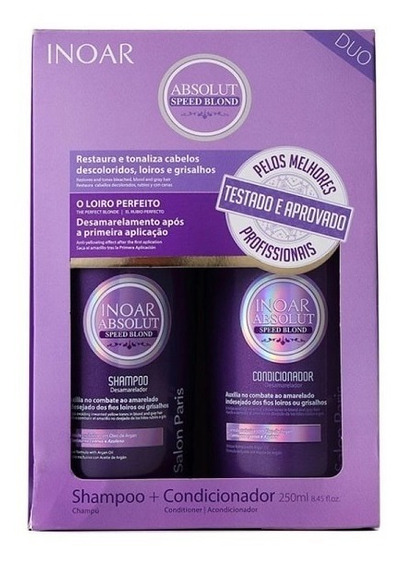 Inoar Absolut Speed Blond Shampoo + Condionador - 2 Produtos