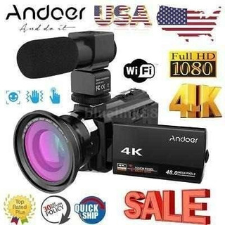 Andoer 4k Wifi Ultra Hd 1080p 48mp 16 X 3 Cámara De Ví-4596