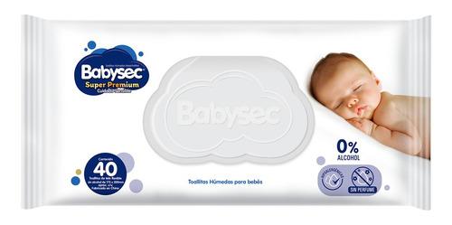 Imagen 1 de 2 de Toallas Húmedas Babysec Super Premium 40 Unid.