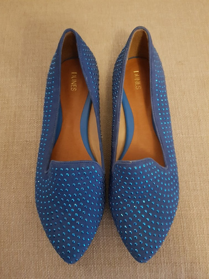 Sapatilha Dunes Azul Brilhante Fashion N35
