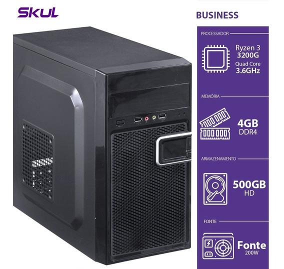 Computador Business B300 - R3-3200g 3.6ghz 4gb Ddr4 Hd 500gb