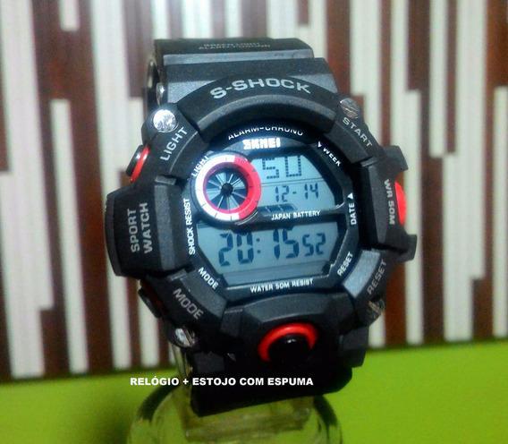 Relógio Pulso Masculino Militar Original S Shock 1019 Skmei