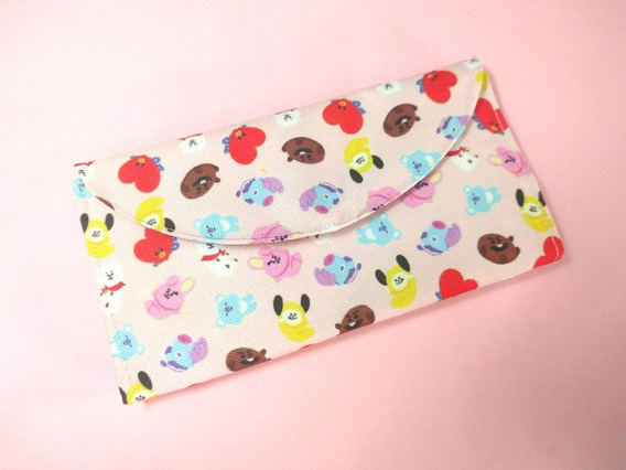Billetera De Bts Única K-pop Bt21 Kpop Monedero Tarjetero