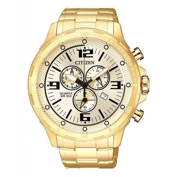 Relógio Citizen Masculino Tz30946g Aço Dourado Original