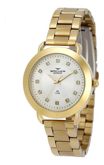 Relógio Feminino Backer 3987145f - Dourado