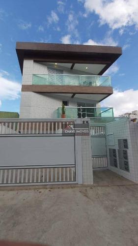Village Com 2 Dormitórios Suítes A Venda, 92 M² Por R$ 465.000 - Aparecida - Santos/sp - Vl0021