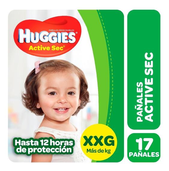 Pañales Huggies Active Sec Megapack M G Xg Xxg