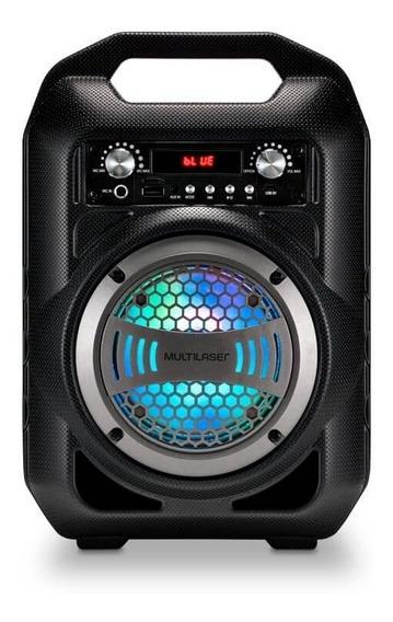 Caixa De Som Multilaser Portátil Bluetooth/fm/sd/p2/usb