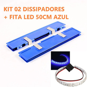 Kit Pc Gamer Casemod Dissipador Memoria Ram + Fita Led 50 Cm