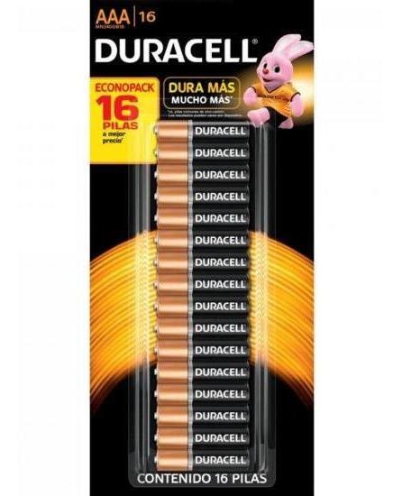 Pilha Alcalina Aaa Duracell Cartela C/ 16 Pilhas - Nota Fiscal - Envio Express Em Até 24hrs*
