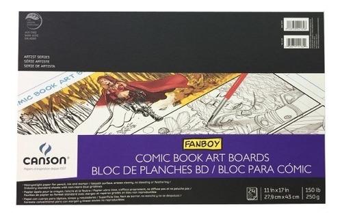 Block Fanboy Para Cómic Canson 27.9 X 43 Cm 250 G/m2