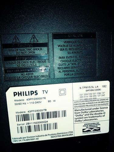Tv Led Philips 43pfg5000 Pra Retirada De Peças