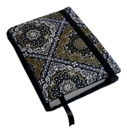 Capa Livro Book Sleeve Jeans Mandalas Ouro Personalizado
