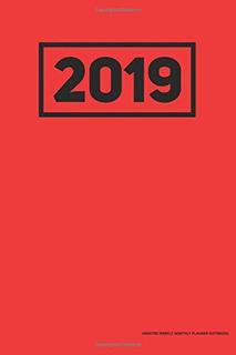 Planificador Mensual Semanal Sin Fecha De 2019 Cuaderno Rojo