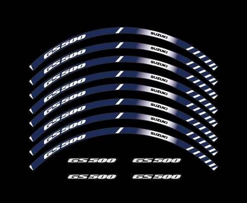 Kit Adesivo Friso Refletivo Roda Moto Suzuki Gs 500 Fri57