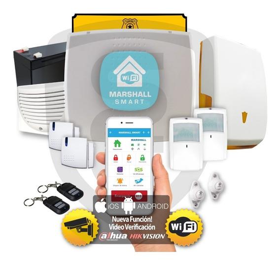 Kit Alarma Inalámbrica Marshall Ip Wifi Aplicación Celular Marshall Smart Marshall 3 Casa Hogar Comercio Domiciliaria