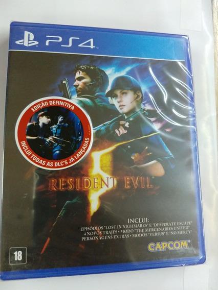 Resident Evil 5 Midia Fisica Ps4 Lacrado