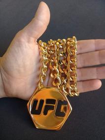Colar Ostentação Ufc Banhado Ouro 18 K