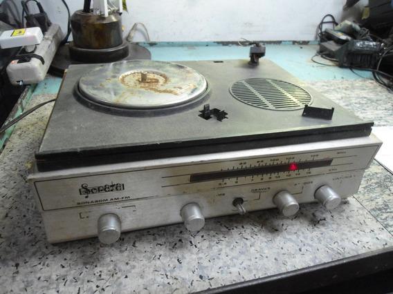 Rádio Com Toca Discos Sonata Sonasom - Para Peças Ou Reparo
