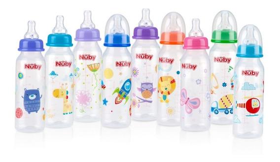 Tetero Biberon Nuby Flujo Medio Diseños 8 Oz Bebes De 0m+