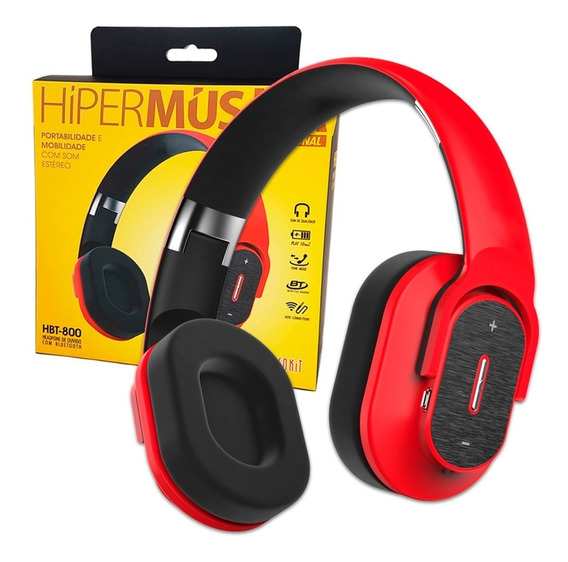 Fone Ouvido Bluetooth Hiper Musica Infokit Hbt-800