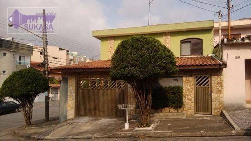 Sobrado Com 3 Dormitórios À Venda, 200 M² Por R$ 723.000,00 - Vila Pires - Santo André/sp - So0263