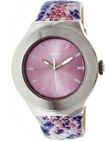 Relógio Swatch Irony Feminino Swiss Original Prata Pulseira
