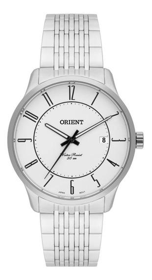 Relógio Orient Mbss1272 S2sx Unissex Prateado / Branco