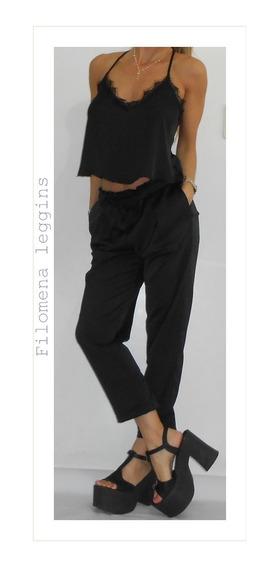 Pantalón Babucha/seda-negro-vestir/filomena Leggins