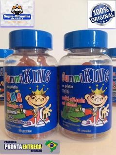 Kit Infantil Multivitaminico+omega 3 Dha 50 Mg Importado Usa