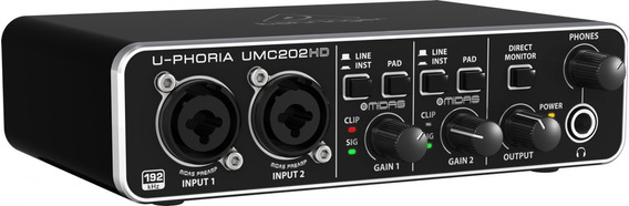 Interface De Audio U-phoria Umc 202hd - Behringer + Nf