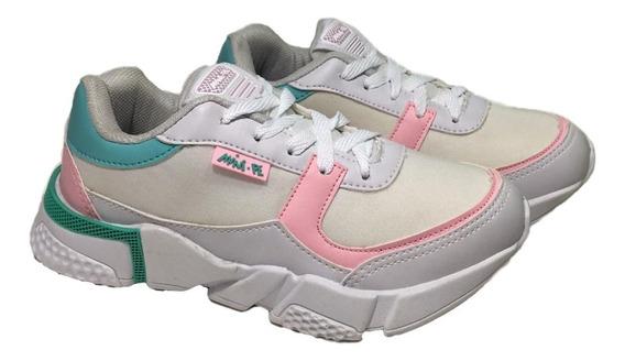 Tênis Infantil Mini Pé Preto E Branco-rosa Mp1857