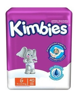 Pañales Kimbies G X 40 Unidades