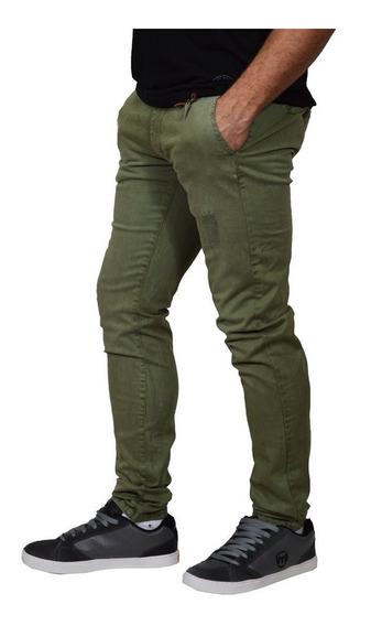 Pantalon Chino Mistral 15881 Corte Fit Hombre Gabardina Moda
