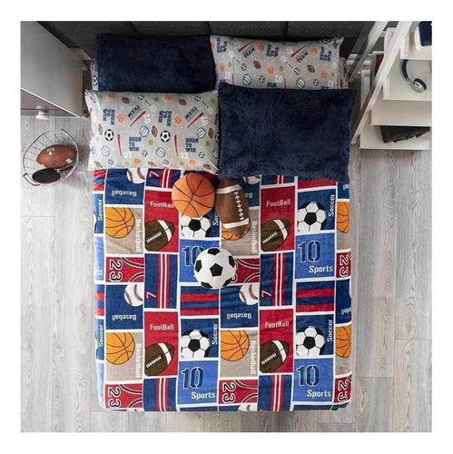Imagen 1 de 4 de Cobertor Vianney Ligero Matrimonial Deportivo