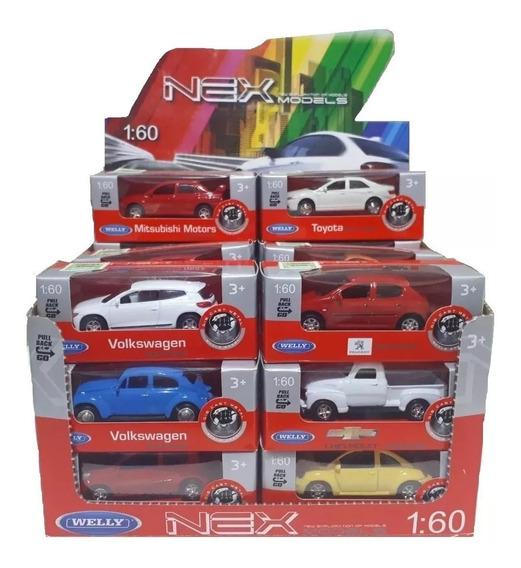 4 Autos Autitos Coleccion Welly A Friccion Escala 1:60 Byp