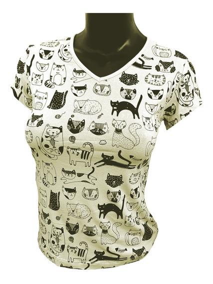 Camiseta Feminino - Estampa Silk