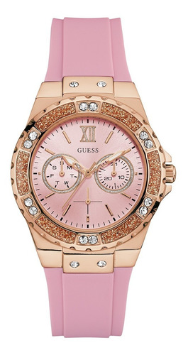 Reloj Para Mujer Guess Limelight W1053l3 Color Rosa