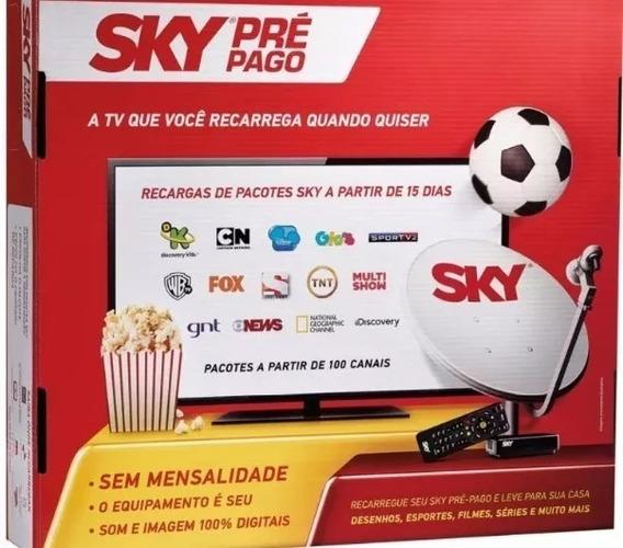 Receptor Sky Pré Pago Hd + 30 Dias Canais Digitais Abertos