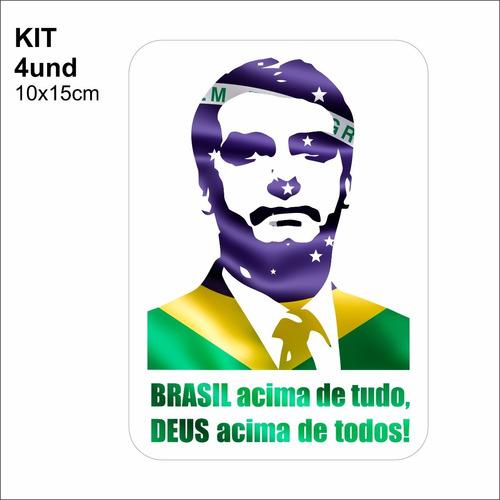 Adesivo Vinil Brasil Acima De Tudo, Deus Acima De Todos!