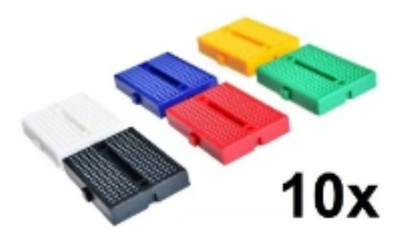 10x Mini Protoboard 170 Pontos Breadboard 170 Furos Arduino