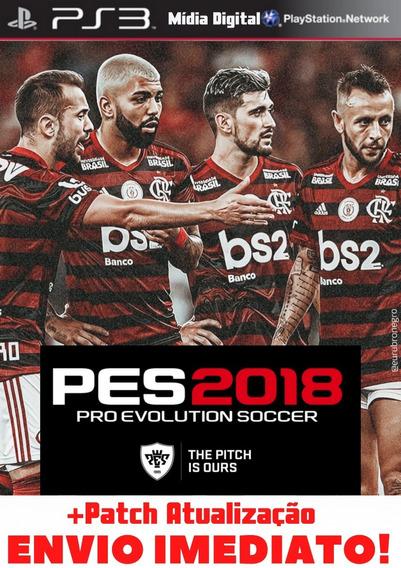 Jogo Pes 18 Ps3 Midia Digital Atualizado Português Envio Já