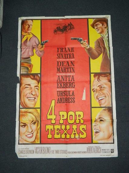 Afiche De Cine - Frank Sinatra - 4 Por Texas