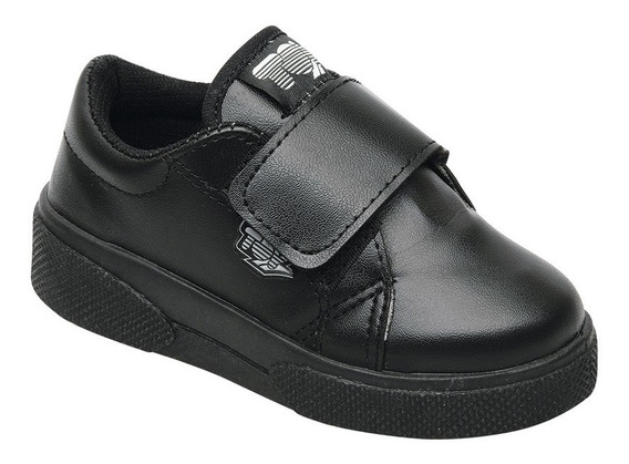 Zapatilla Tipo Escolar Negra Toy (talle 20 Al 26) Art 1145n