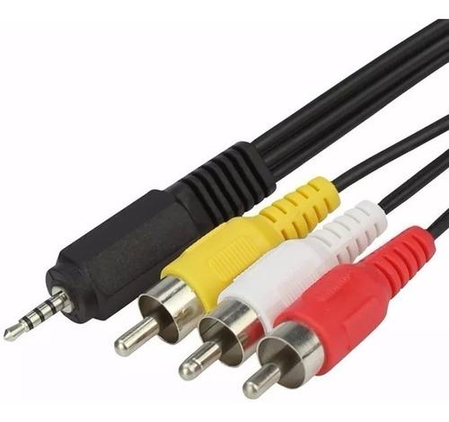 Imagen 1 de 10 de Cable Mini Plug A 3 Rca Video Audio Deco Tvbox Tv Box