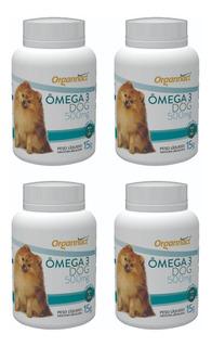 4 X Omega 3 Dog 500 Mg Organnact Frasco 15 G